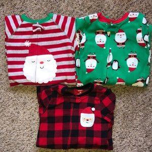 Carter's Santa fleece footie pajamas